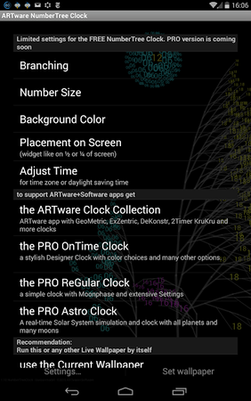 Скриншот NumberTree Clock