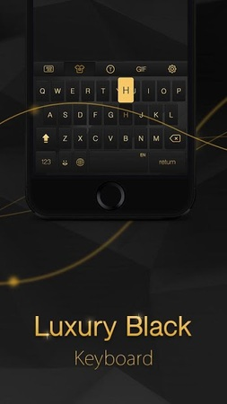Скриншот Luxury Black Keyboard Theme
